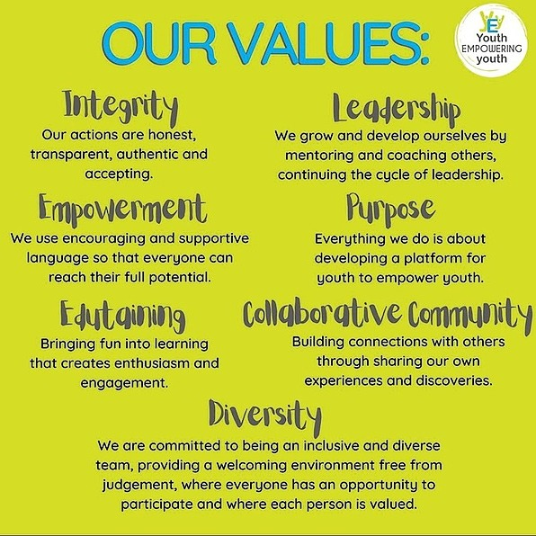 YEY Core Values