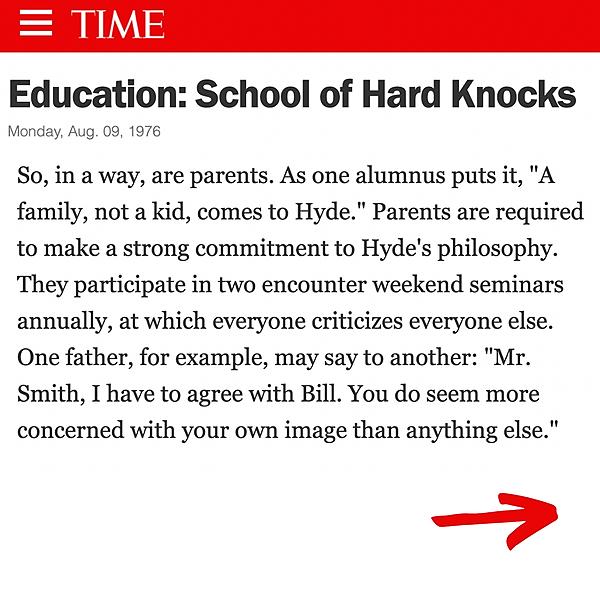 Hyde School Survivors TIME Magazine - Education: School of Hard Knocks (Who is Hyde Founder Joe Gauld?) Link Thumbnail   Linktree