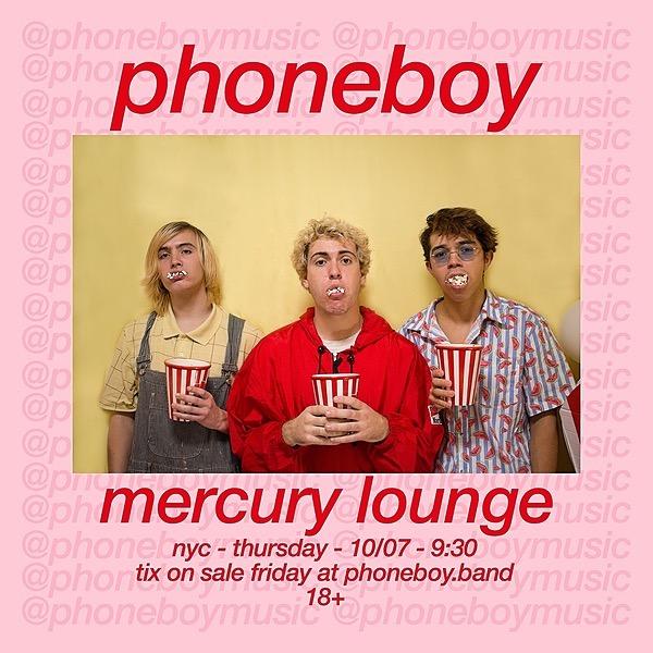 PHONEBOY MERCURY LOUNGE - 10/07 Link Thumbnail | Linktree