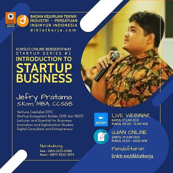 Free Webinar Startup Business Series #2 (17 Juni 2021)