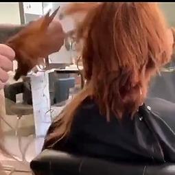 Red Head Gets a Pixie Cut