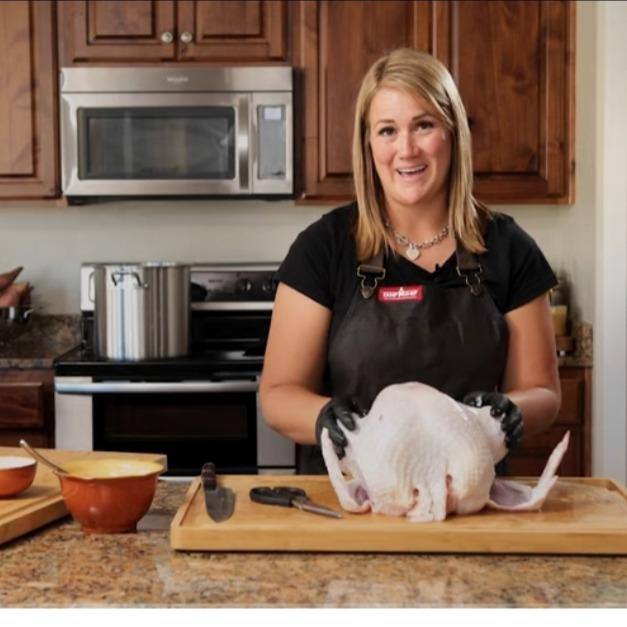 Juicy Spatchcock Turkey Recipe on the smoker