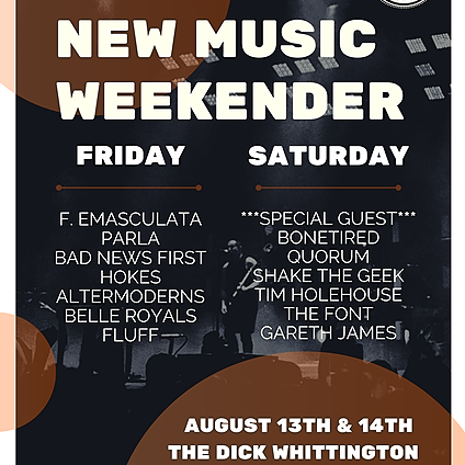 13th, 14th August - New Music Weekender (Gloucester)