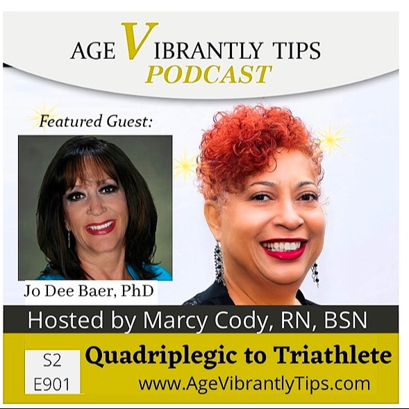 Age Vibrantly Tips Podcast Jo Dee Baer, PhD Meditation, pH and Gratitude for Long Happy Life Link Thumbnail | Linktree