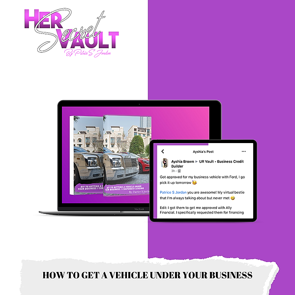@Hersecretvault How to Get A Vehicle Under Your Business Ebook Link Thumbnail   Linktree
