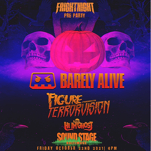 @unchartedpromo Fright Night Pre-Party  w/ Barely Alive, Figure & Hi I'm Ghost   Link Thumbnail   Linktree
