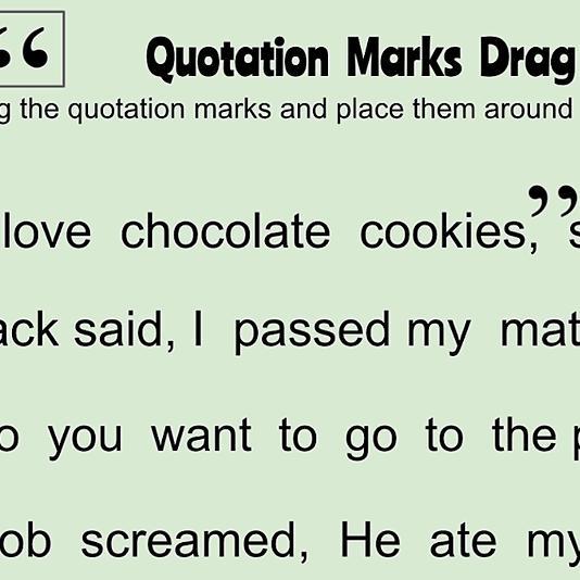 Quotation Mark Activity