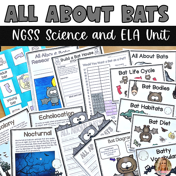 @thefirstgradecreative All About Bats NGSS Science and ELA Unit Link Thumbnail   Linktree