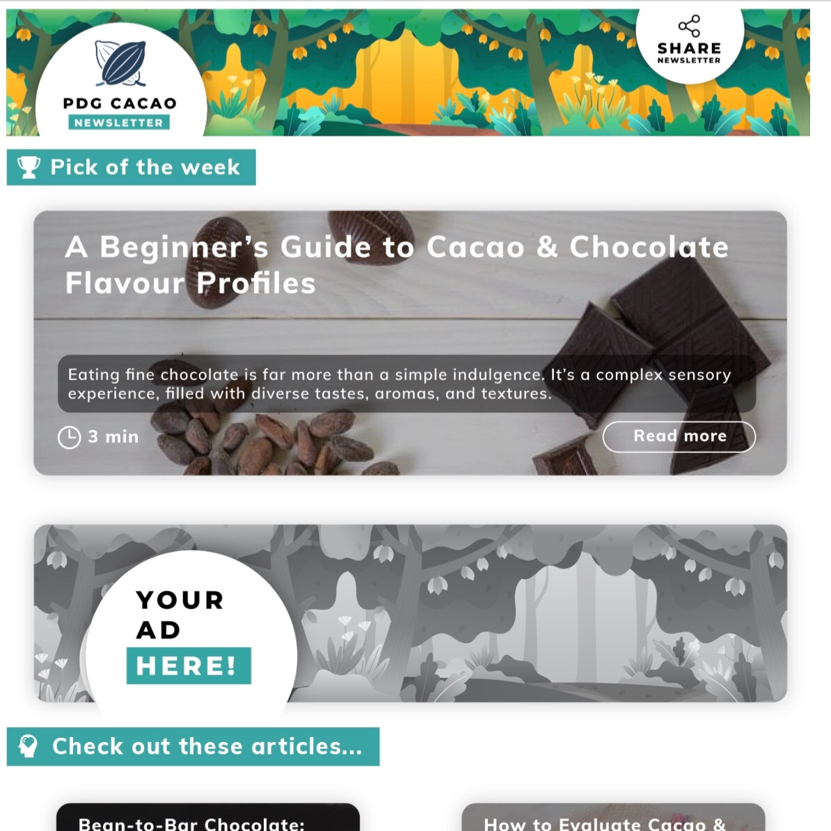 PDG Cacao Newsletter Sign-Up