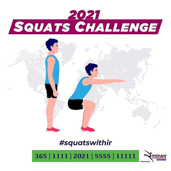 @IndianMarathon Squats Challenge 2021 Link Thumbnail | Linktree