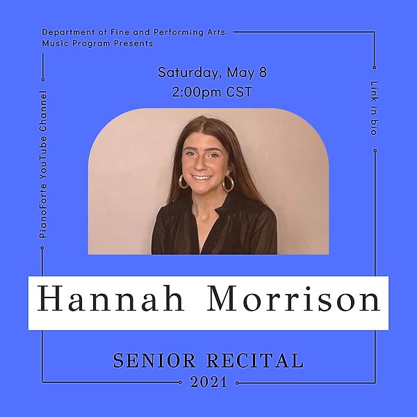 @lucmusicprogram Senior Recital - Hannah Morrison Link Thumbnail | Linktree