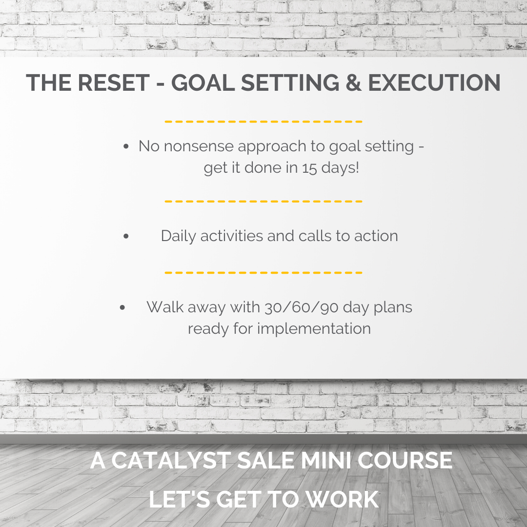 The Reset - Goal Planning & Execution Mini Course
