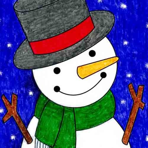 @artprojectsforkids Draw a Cute Snowman Link Thumbnail   Linktree
