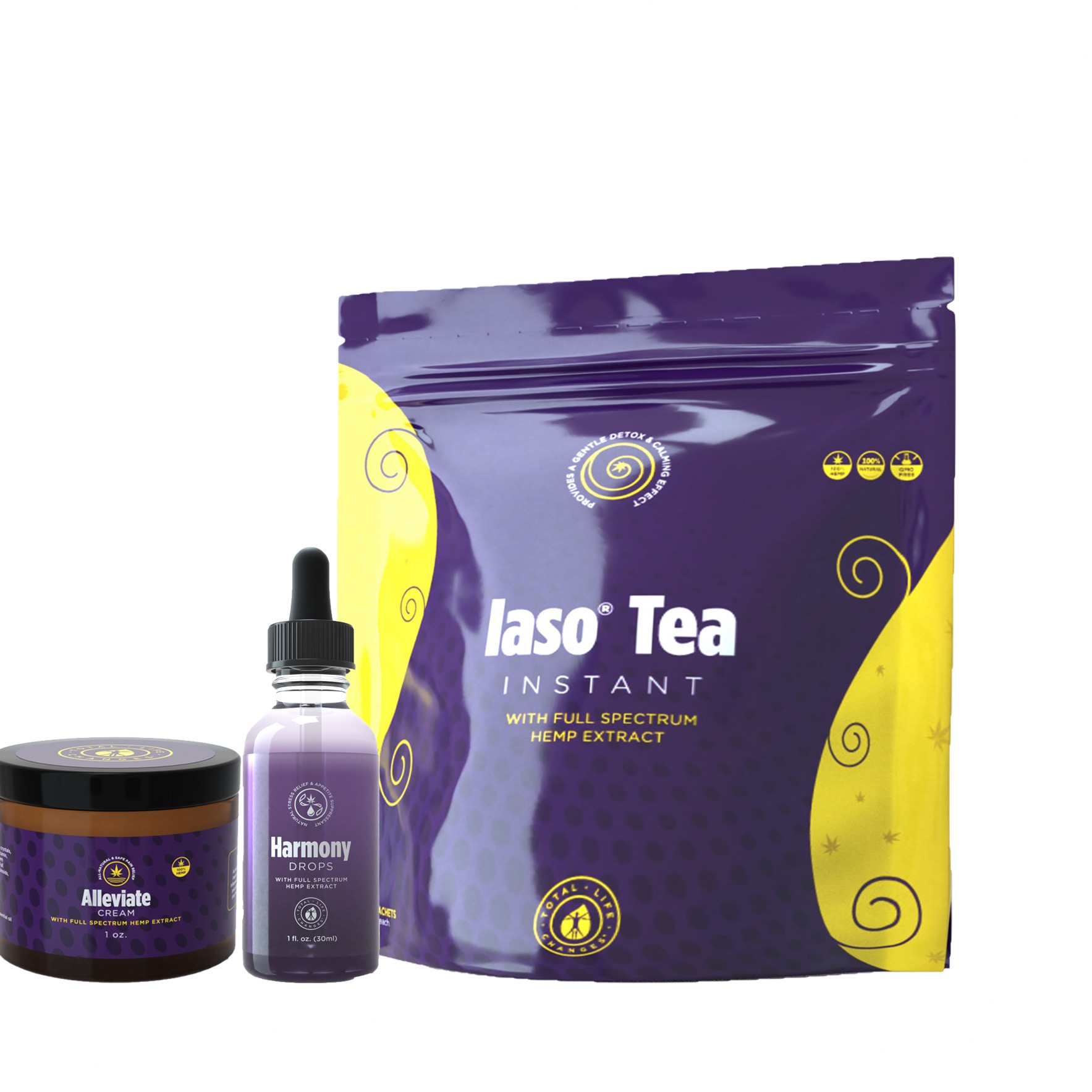 CBD Trio pack (Detox tea, CBD oil, CBD cream