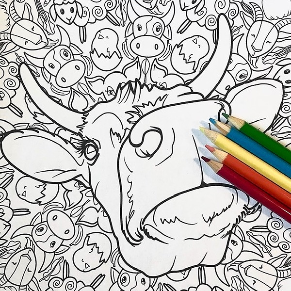 Coloring Pages — Support DawgArt and Animal Rescue!