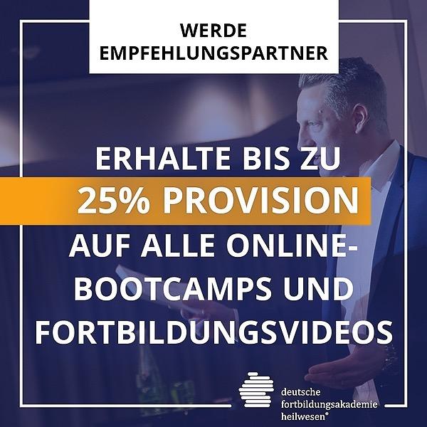 Fortbildungen, die überzeugen Werde Empfehlungspartner für Online-Bootcamps und erhalte 25% Provision Link Thumbnail | Linktree