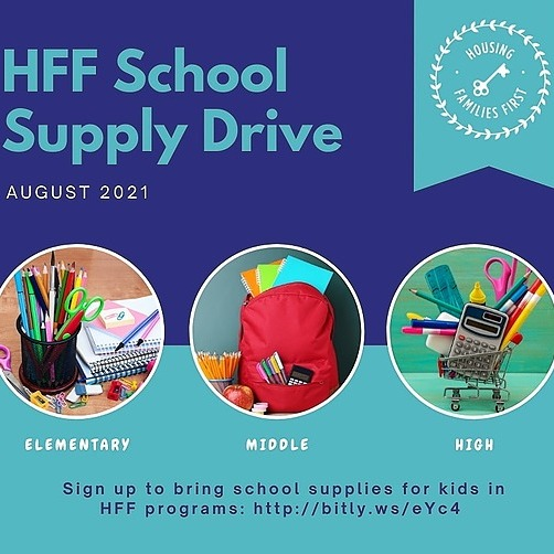 Housing Families First School supply drive Link Thumbnail   Linktree
