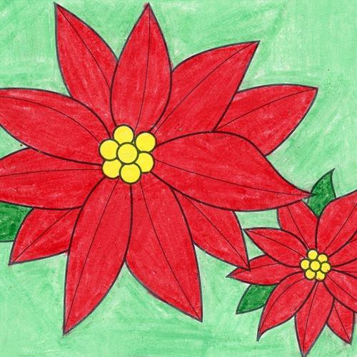 @artprojectsforkids Draw Poinsettias Link Thumbnail   Linktree