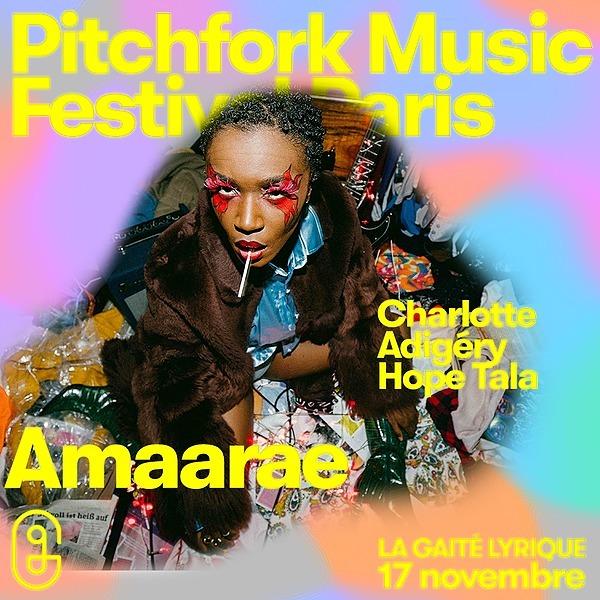 @Amaarae_ 17/11/2021 - Pitchfork Music Festival, Paris  Link Thumbnail | Linktree
