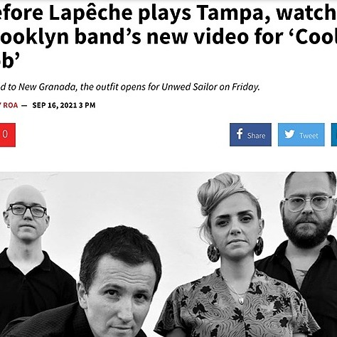 """LAPÊCHE """"Cool Job"""" (Official Video) write up over at Creative Loafing Tampa Link Thumbnail   Linktree"""