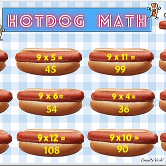 Hotdog Multiplication By 9