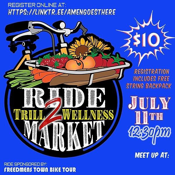 July 11: RIDE 2 FARMER'S MARKET