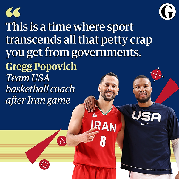 @guardian 'We wish that was real life': USA and Iran unite on Tokyo basketball court Link Thumbnail   Linktree