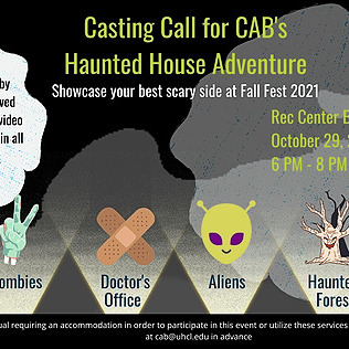 CAB at UHCL Casting Call for CAB's Haunted House Adventure Performers Link Thumbnail   Linktree
