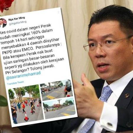 @sinar.harian 'Perak perlu contohi Selangor buat saringan besar-besaran' Link Thumbnail | Linktree