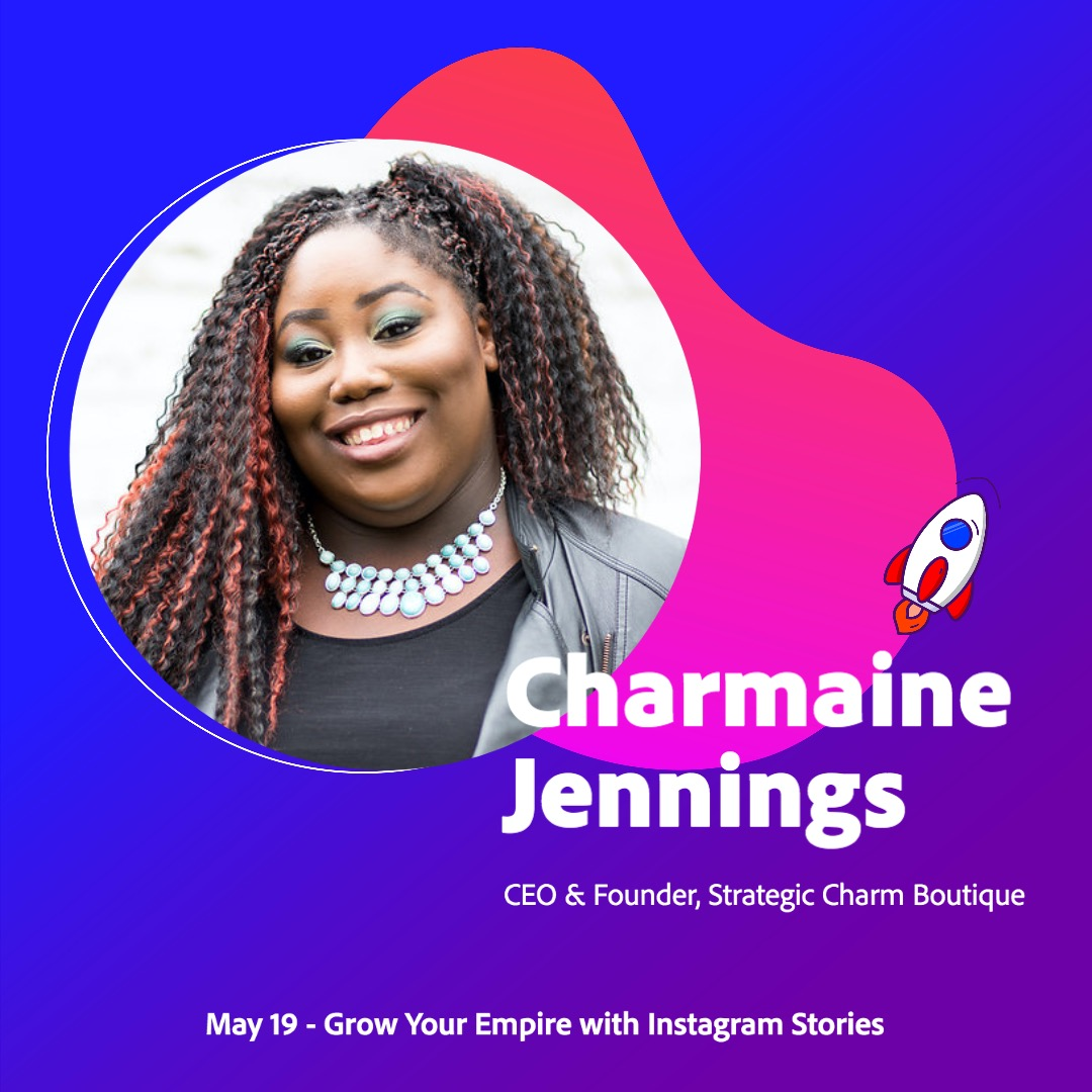 """@adobespark """"Growing Your Empire with Instagram Stories"""" - Spark Live featuring Charmaine Jennings - Founder & CEO, Strategic Charm Boutique Link Thumbnail 