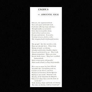 "The Atlantic Poem: ""Exodus"" by Adrienne Rich Link Thumbnail | Linktree"