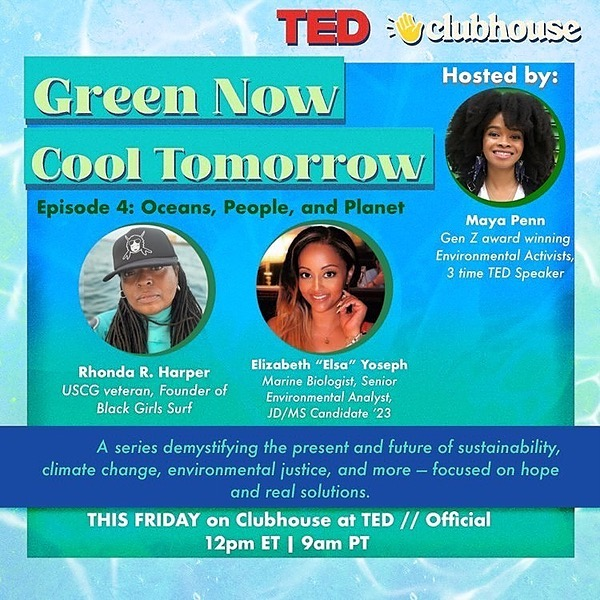 Black Girls Surf Green Now, Cool Tomorrow 🌎🌊 / Oceans, People, and, Planet  🔴 - TED // Official Link Thumbnail   Linktree