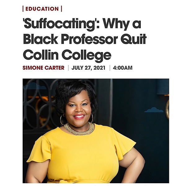 Professor Kimberly O'Neil [Read] 'Suffocating': Why a Black Professor Quit Collin College Link Thumbnail | Linktree
