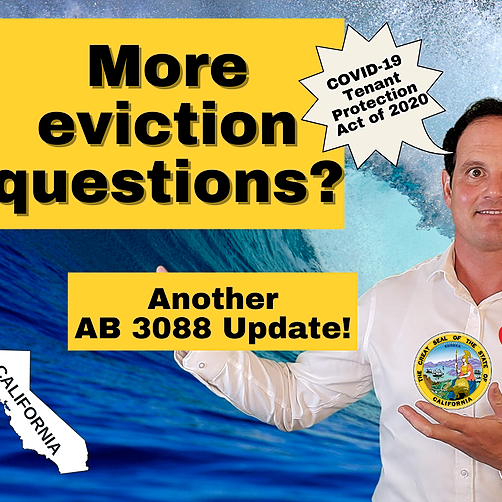 Your eviction questions answered: AB 3088 Eviction Update for Tenants and Landlords!