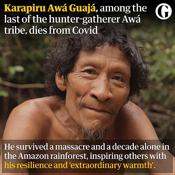 @guardian 'Best a human can be': indigenous Amazonian Karapiru dies of Covid Link Thumbnail   Linktree