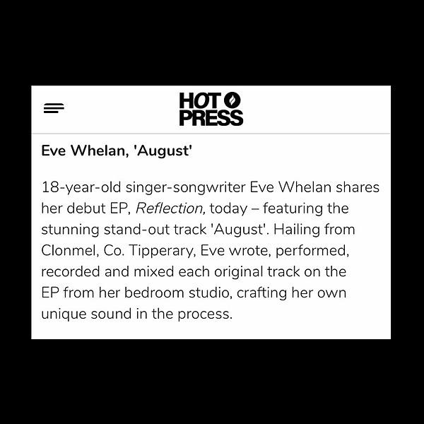 "@evewhelanmusic HOTPRESS Feature of ""August"" Link Thumbnail | Linktree"
