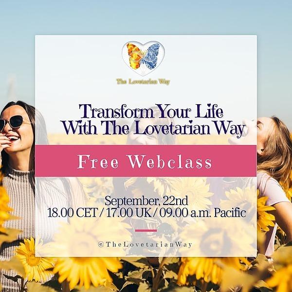 @NataliaPHLovetarian Transform Your Life With The Lovetarian Way Free Webclass Link Thumbnail | Linktree