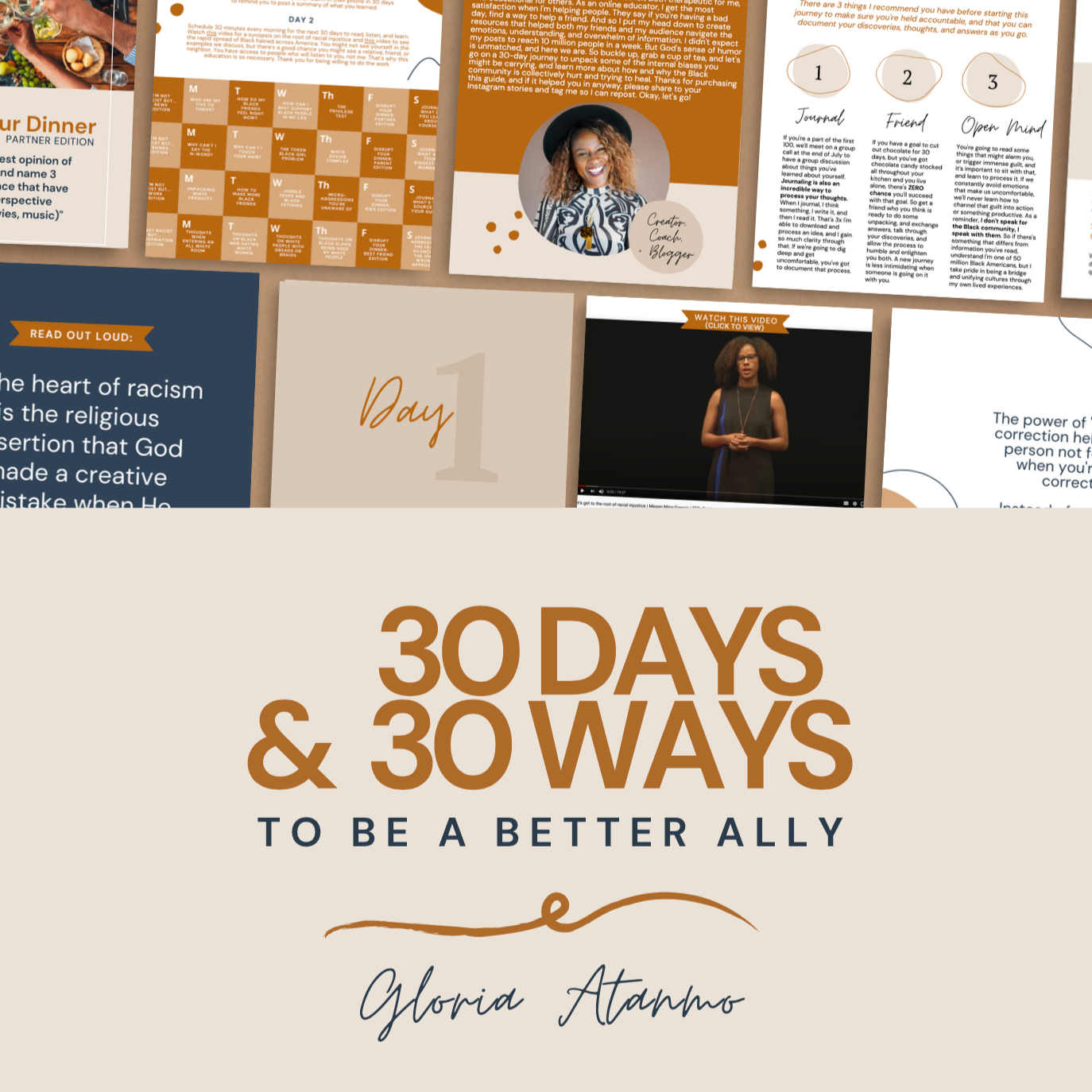 Glo Atanmo Anti-Racism: 30 Days & 30 Ways to Be a Better Ally Link Thumbnail   Linktree