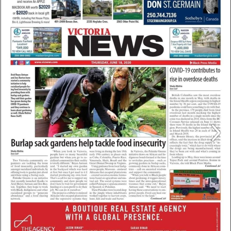 Palenke Greens // Victoria News feature