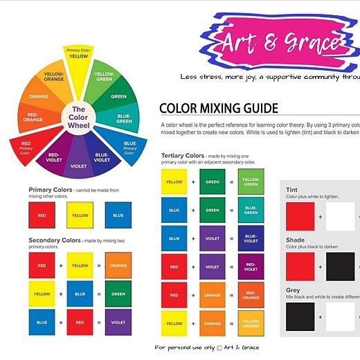 Art & Grace Free Color Mixing Chart Link Thumbnail   Linktree