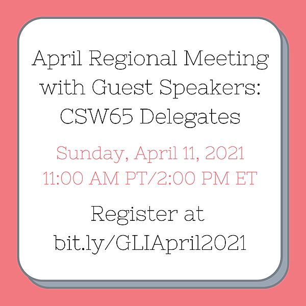 April 2021 Regional Meeting with Guest Speakers