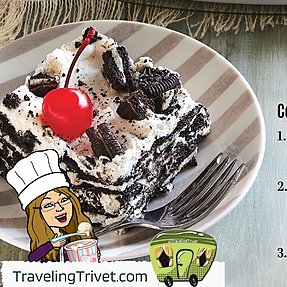 @TravelingTrivet 🚃 WELCOME! Cookies and Cream Icebox Cake Link Thumbnail | Linktree