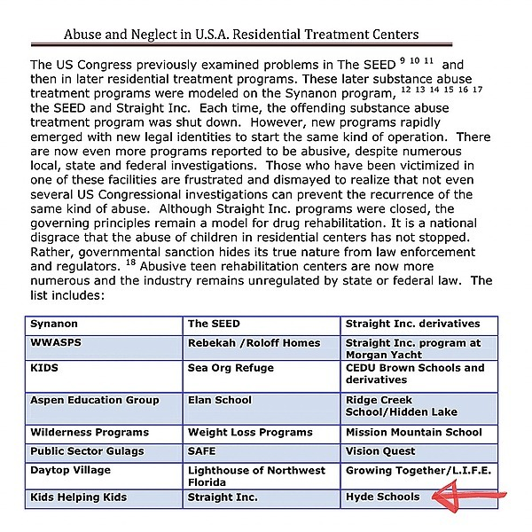 Hyde School Survivors Report - Medical Whistleblower: Abuse and Neglect in U.S.A. Residential Treatment Centers (See Hyde on list) Link Thumbnail   Linktree