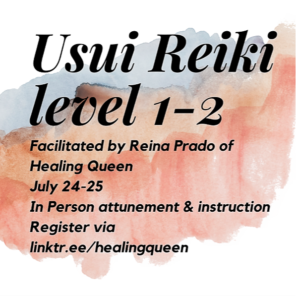 Usui Reiki Level 1 & 2 Instruction and Attunement July 24-25 In-Person