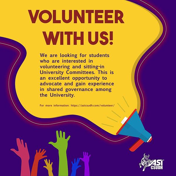 @asicsudh ASI Volunteer Form Link Thumbnail | Linktree