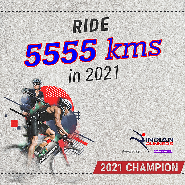 Ride 5555 Kms in 2021