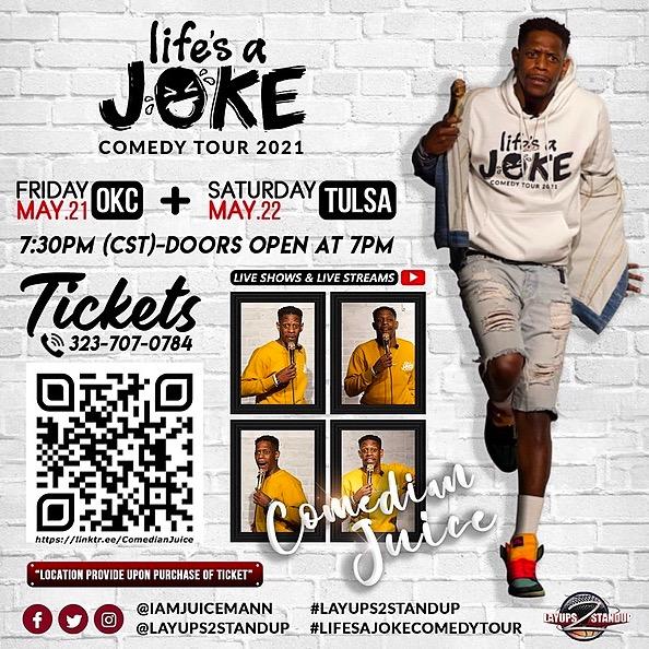 Tulsa, OK Comedy Show 🎟 May 22nd 7:30pm