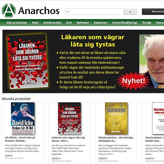 Anarchos förlag & webbutik – Butiken