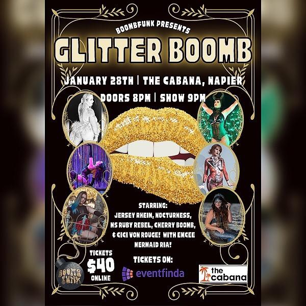 @BoombFunk Glitter Boomb Burlesque Show tickets - January 28th 2022 Link Thumbnail | Linktree