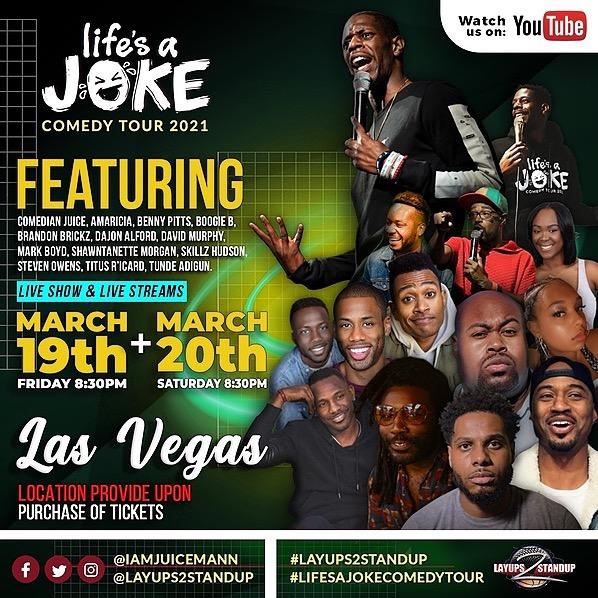 Las Vegas Comedy Show🎟 March 20th 8:30